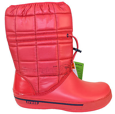 Dettagli su STIVALI DONNA CROCS TG. 37 W7 SCARPE blu winter puff boot woman 14614 INVERNALI