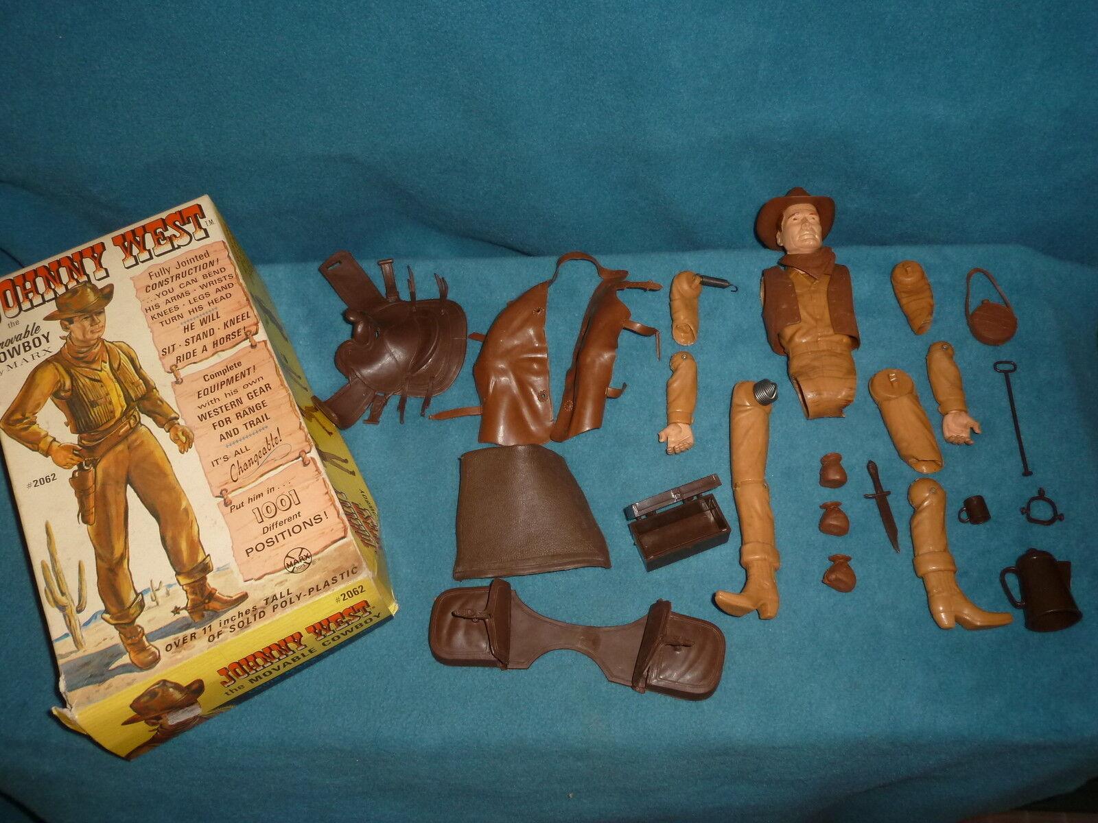 Juguete Vintage Marx Johnny West & Gear rossoo Cuerpo Con Estuche Toys