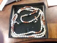 "New 48"" 6-7 mm Multi Color Freshwater Pearl Necklace bracelet earring set"