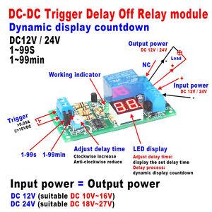 DC V V LED Display Digital Delay Timer Control Switch Turn Off - Power off relay