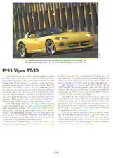 1995 Dodge Viper RT/10 Roadster Article - Must See !!