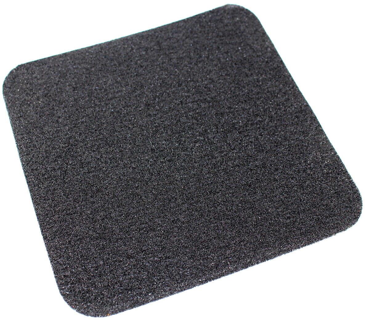 10 Pk ANTI SLIP 140x140mm Self Adhesive FLOOR TILES Squares BLACK Standard Grade