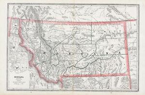 1888 Map of Montana [Territory]