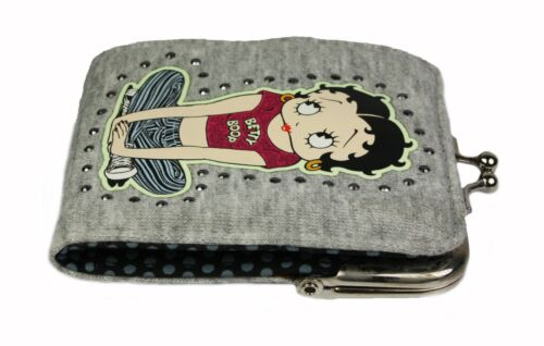 Betty Boop Design Cloth Womens Ladies Wallet Purse Coin Pouch Card Slots NEW