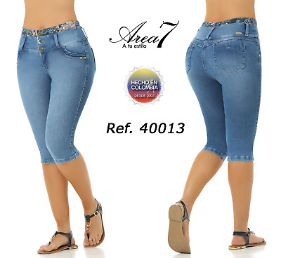 AREA 7 Capris Jeans Colombianos Levanta Cola Authentic Colombian Push Up Capri