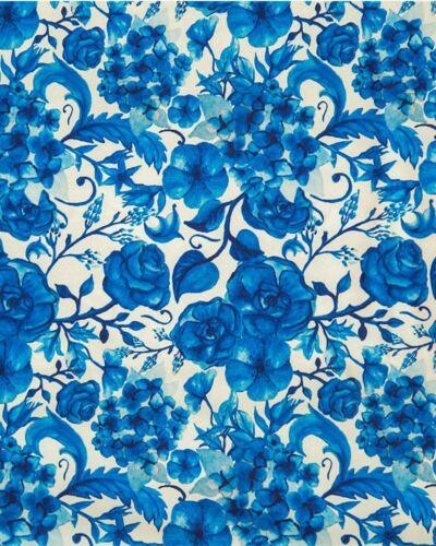 Lindy Bop Acuarela impresión Crepe De Chine Swing años 50 paquetes de tela para mujer 1M