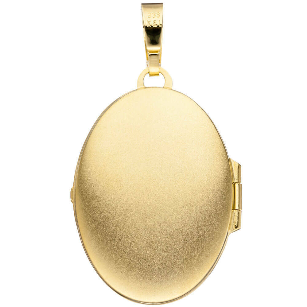 Medaglione Ciondolo per aprire 333 oro oro oro GIALLO superficie incisi UNISEX 312839