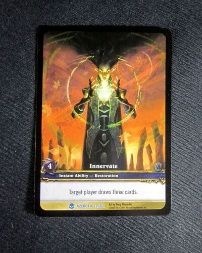 Rare Extended Art 15 World of Warcraft WoW TCG Innervate Azeroth Lot of