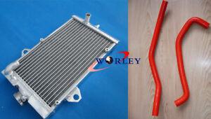 Aluminum-radiator-amp-Hose-FOR-Yamaha-Raptor-700-Raptor-700R-YFM700-2006-2013-RED