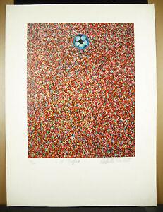 Memorial-Football-Print-Original-Artist-c1980-Soccer-Sport-Popular-Art