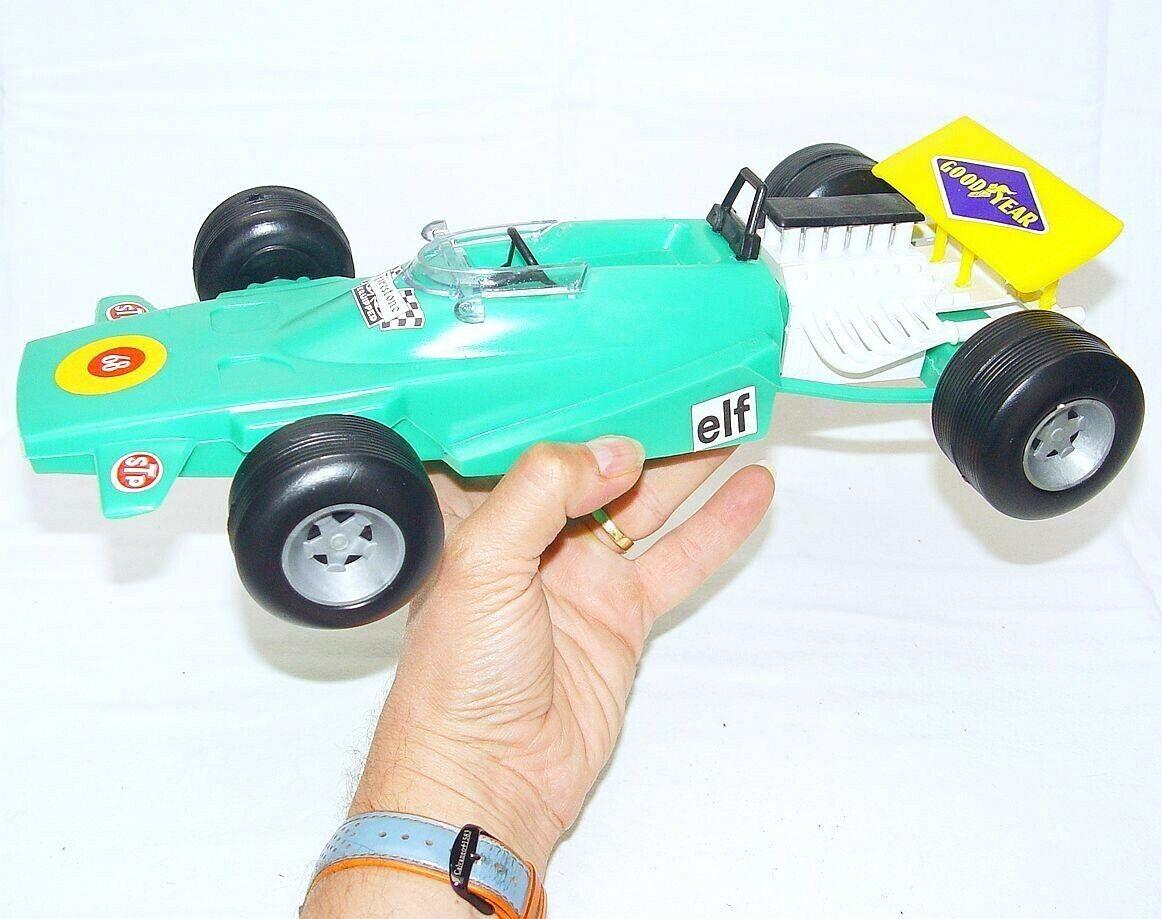 Sogimez Italie 1 14 MATRA MS-120 F1 voiture de course en plastique vert 37 cm Big En parfait état, dans sa boîte`71 RARE
