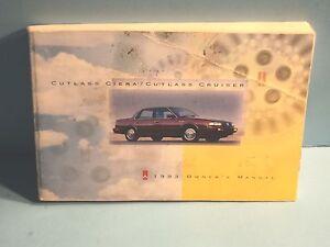 93 1993 oldsmobile cutlass ciera/cutlass cruiser owners manual | ebay.