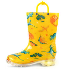 GNR61133 Toddler // Little Kids Puddle Play Boy/'s Dinosaurs Green Rain Boots