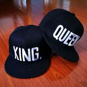 fddbb1236f3 Image is loading King-Queen-Baseball-Caps-Adjustable-Couple-Hip-Hop-