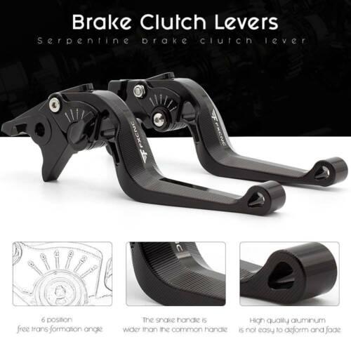 FXCNC CNC 3D Short Camber Rhombus Brake Clutch Lever FOR keeway tx125 2018 Black