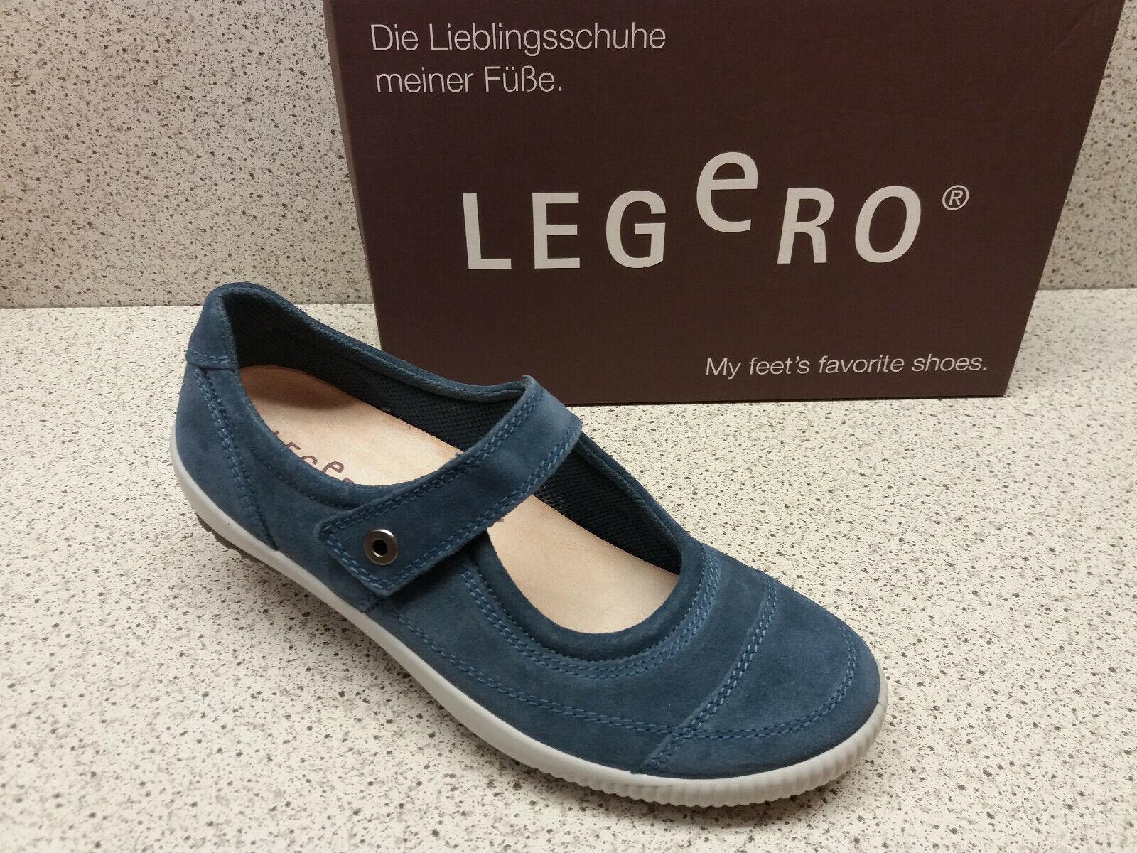 Legero ® RIDUCE PREZZO TOP NUOVO FERMAGLI Ballerina in pelle blu (l31)