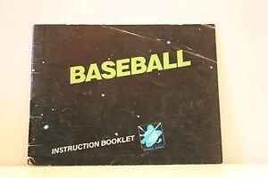 Baseball-Original-NES-Manual-ONLY-Nintendo-Entertainment-System