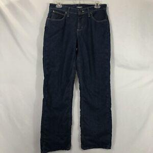 Cabela-039-s-Womens-Size-6-Short-Blue-Mid-Rise-Straight-Leg-Lined-Denim-Jeans