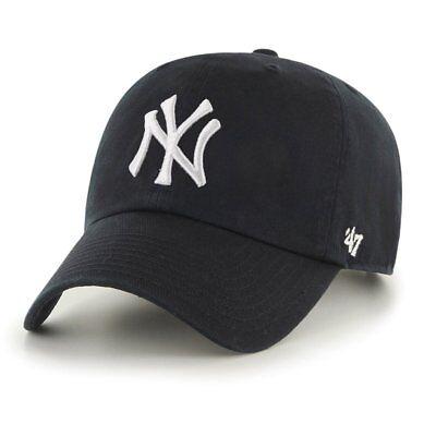 47 Brand Relaxed Fit Cap-mlb New York Yankees Nero-mostra Il Titolo Originale Famoso Per Materiali Selezionati, Disegni Innovativi, Colori Deliziosi E Lavorazione Squisita