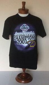 Arizona-Diamondbacks-2001-World-Series-T-Shirt-Black-Snake-Logo-Tennessee-River