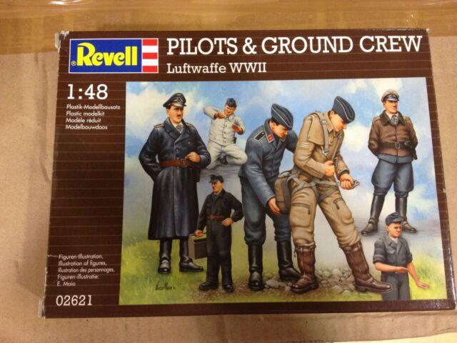 Maqueta REVELL,Pilotos & Ground Crew,escala 1/48,Ref.02621