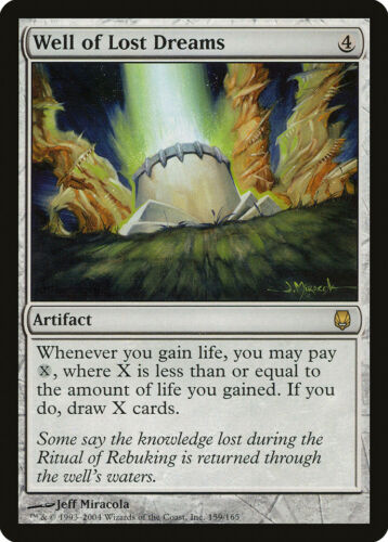 Well of Lost Dreams Darksteel NM-M Artifact Rare MAGIC GATHERING CARD ABUGames