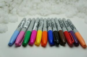 STANFORD-Sharpie-Fine-Point-Permanent-12-colors-Marker-MADE-IN-USA