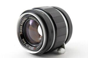 Selten-mint-Tokyo-Kogaku-Topcor-S-5cm-f-2-l39-Leica-Screw-LTM-Lens-f-Japan