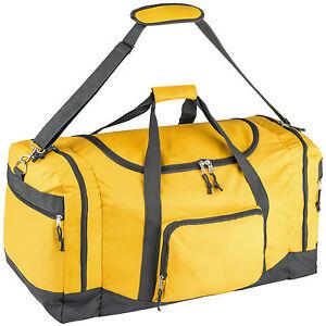 sporttasche tasche reisetasche reisekoffer trainigstasche 90l 70x35x35cm gelb. Black Bedroom Furniture Sets. Home Design Ideas