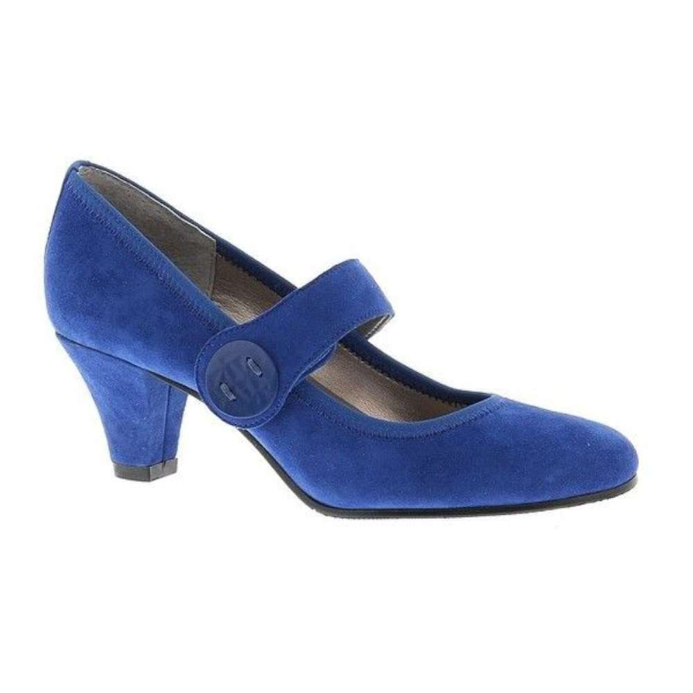 ARRAY Womens Sapphire Suede Closed Toe Mary Jane Pumps, Blue, Size 6.5 ZRpH US