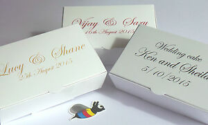 50-x-LARGE-Personalised-Wedding-Favour-Cake-Boxes-NEW-SIZE-105x65x35mm-FREEPOST