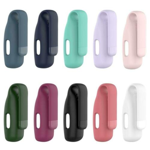 Steel Silicone Protective Clip Case Cover Holder for Fitbit Inspire 2 Accessory