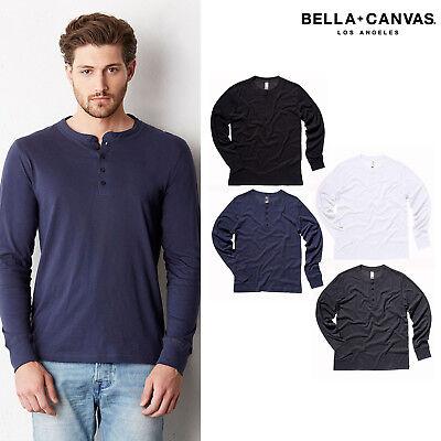 Bella Crew Neck Tee Long Sleeve T-shirt Canvas Unisex Jersey Henley Top 3150