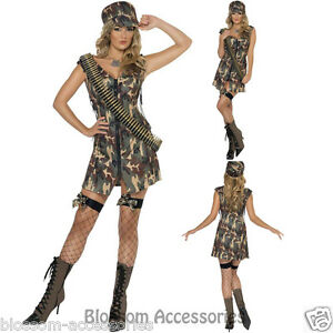 CL361-Ladies-Fever-Army-Uniform-Military-Army-Soldier-Top-Gun-Dress-Up-Costume