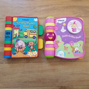 Vtech Nursery Rhymes Singing Book And Peek A Boo Book Interactive X2