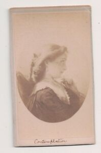 Vintage-CDV-Album-Filler-034-Contemplation-034