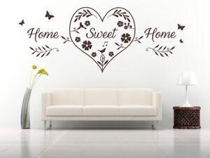 Dettagli su HOME SWEET HOME CUORE preventivo, Wall art Adesivi per  Decalcomania Murale, Camera da letto, LOUNGE- mostra il titolo originale