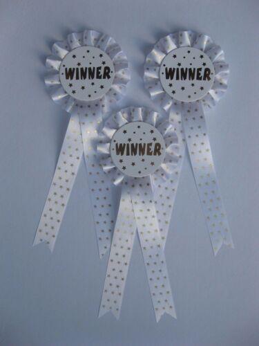 3 x 1 niveaux vainqueur rosettes pour awards chien//chevaux//parties