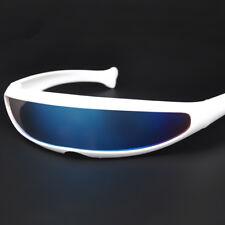 4e5985021b7ec Creative Futuristic Narrow Cyclops Color Mirrored Lens Visor Men Sunglasses