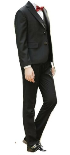 Kid 3 Pcs Suits Blazer Jacket Tux Vest Waistcoat Trousers Wedding Prom Page boy