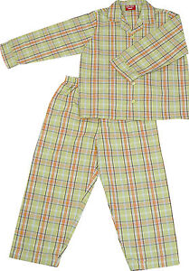 PYJAMA-SUIT-100-COTTON-AMERICAN-GREEN-CHECKS-5-10-YR