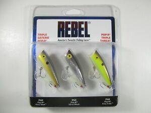 "Rebel P61G253 Pop-R Plus Topwater Bait Purple Shad 2 1//2/"" 1//4 oz"