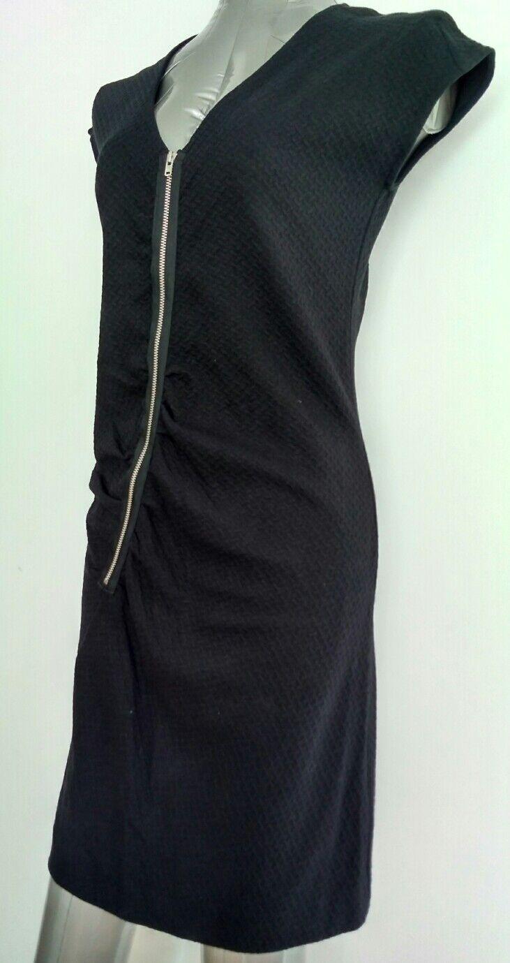 Vestido de Jersey con con con textura COS TALLA S-Nuevo-Negro asimétrico cremallera curvas ajuste favorecedor 2de5a4