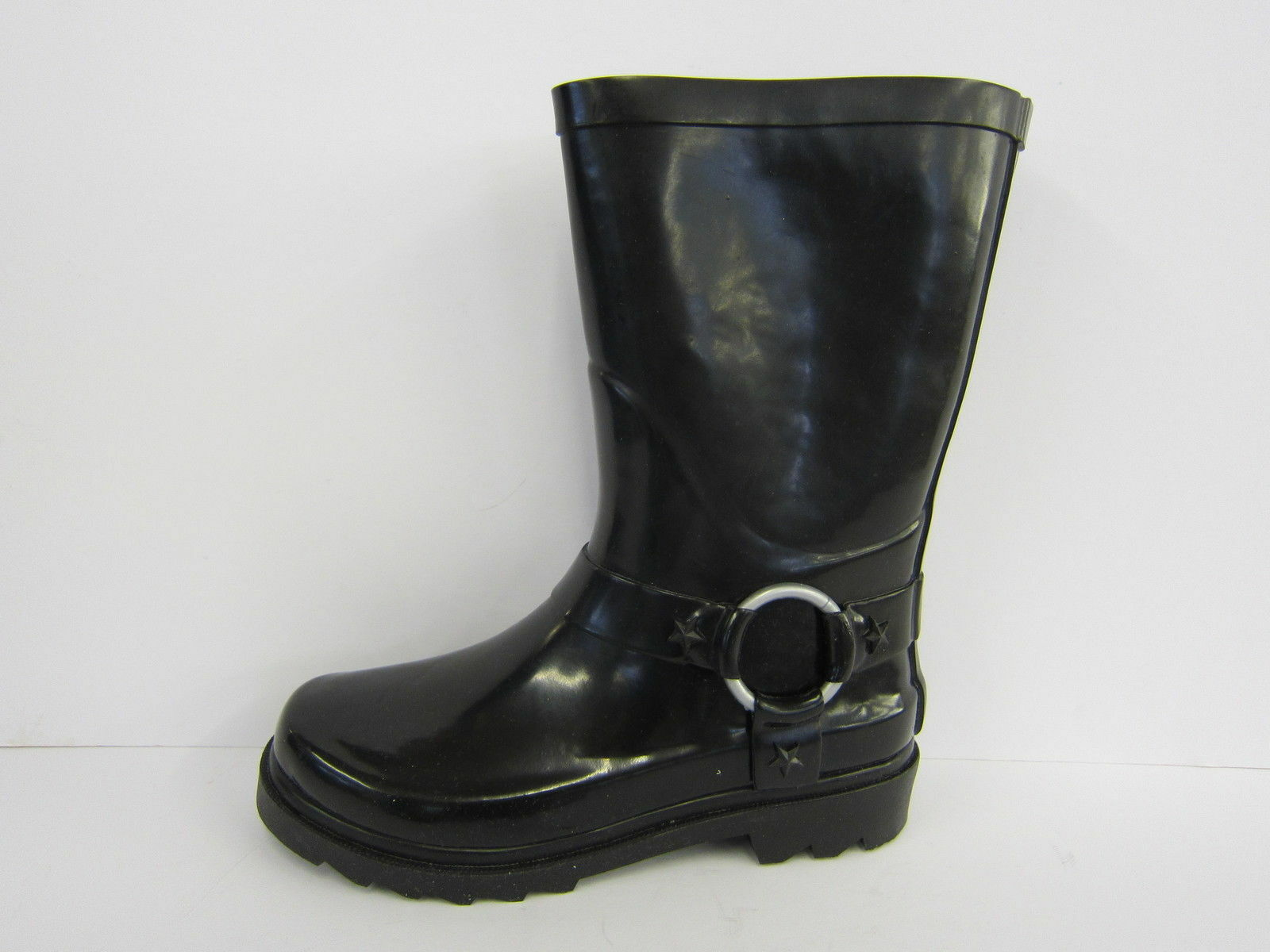 X1031- Childrens Black Shiney Rubber Wellington Boot- - Great Price!