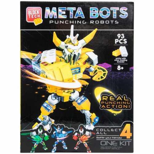 Block Tech Meta Battle Punching Bots YELLOW COBRA