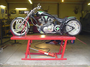 Motorcycle-lift-table-PLANS-Harley-bagger-chopper-bobber-xs-cb-CFL-Bmw-Buell