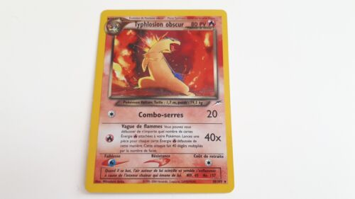 CARTE POKEMON NEUF TYPHLOSION OBSCUR 80PV 10//105 HOLO