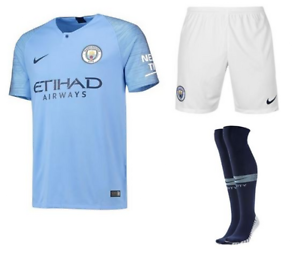 Nike Manchester City HOME KIT SHIRT 2018//19 Kids