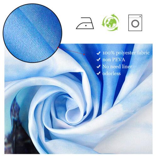 """72/"""" Polyester imperméable à l/'eau salle de bains Rideau de douche rétro motif fleuri avec 12 Crochet"""