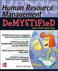 Human Resource Management DeMYSTiFieD by Robert G. DelCampo (Paperback, 2010)